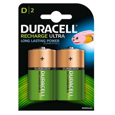 Duracell batterij: D Oplaadbare batterijen (2 stuks) - Zwart
