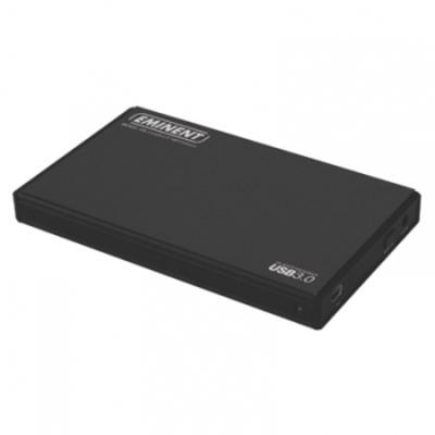 """Eminent USB 3.0 2.5"""" SATA Harde schijf met backupknop Behuizing - Zwart"""