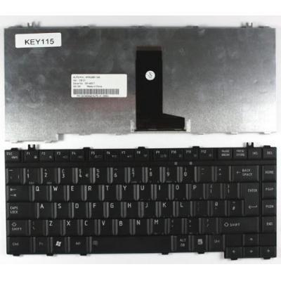 Toshiba Keyboard (English), Black Notebook reserve-onderdeel - Zwart