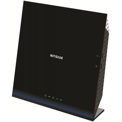 Netgear wireless router: D6200 - Zwart