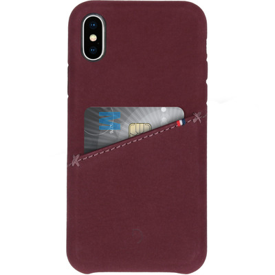 Leather Snap On Backcover iPhone X - Rood / Red Mobile phone case