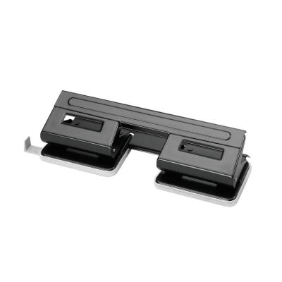 Herlitz 4-hole punch with paper guide. Black Perferator - Blauw