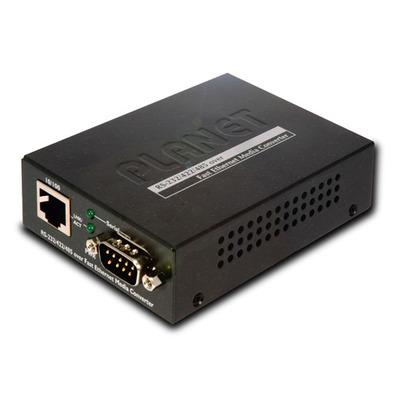 PLANET RS-232 / RS-422 / RS-485 over Fast Ethernet Media converter - Zwart