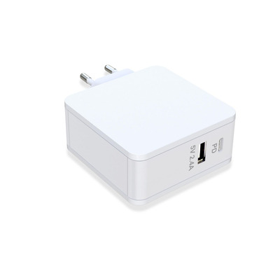 CoreParts 45W, 2.4A, 5V, USB C, White, f/ Apple Oplader - Wit