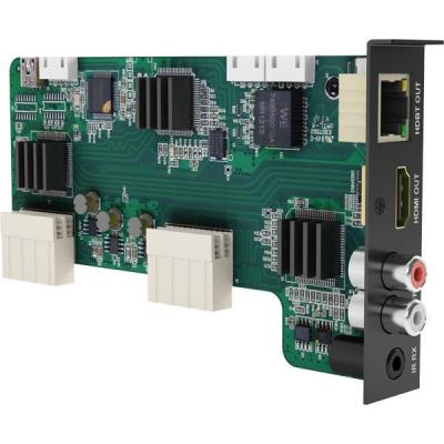 WyreStorm HBaseT Out, HDMI Out, Audio In, IR In Digitale & analoge i/o module - Zwart, Groen
