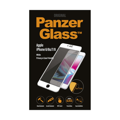 PanzerGlass Apple iPhone 6/6s/7/8 Edge-to-Edge Privacy Screen protector - Transparant