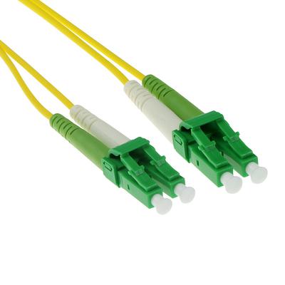 ACT 5m LSZH Singlemode 9/125 OS2 glasvezel patchkabel duplexmet LC/APC8 connectoren Fiber optic kabel - Groen,Geel