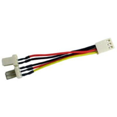 Lindy CPU fan, 2 -> 1 Adapter - Multi kleuren