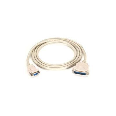 Black Box PREMIUM AT MODEM CABLE, DB9 FEMALE/DB25 Seriele kabel