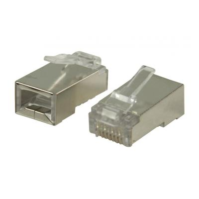 Valueline kabel connector: RJ45 connectors for solid STP CAT6 cables - Zilver