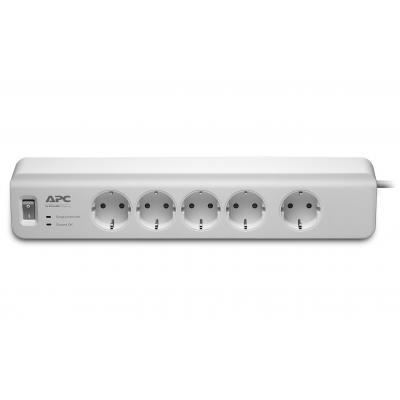 Apc surge protector: SurgeArrest Overspanningsbeveiliger 2300W 5x stopcontact - Wit