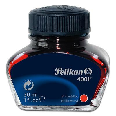 Pelikan inkt: INK 4001 78 BRILLIANT RED - Zwart, Transparant
