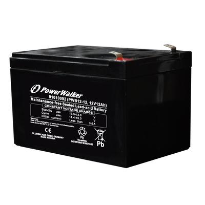 PowerWalker PWB12-12 UPS batterij - Zwart