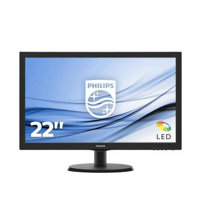 Philips monitor: LCD-monitor met SmartControl Lite 223V5LHSB2/00 - Zwart