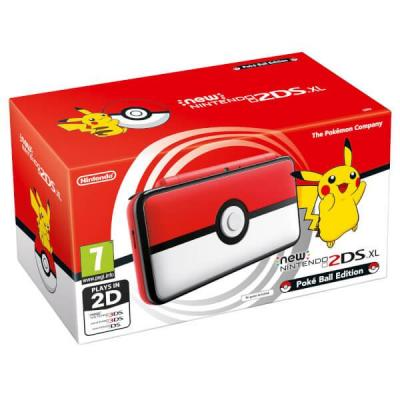 Nintendo portable game console: New 2DS XL Poké Ball Edition - Zwart, Rood, Wit