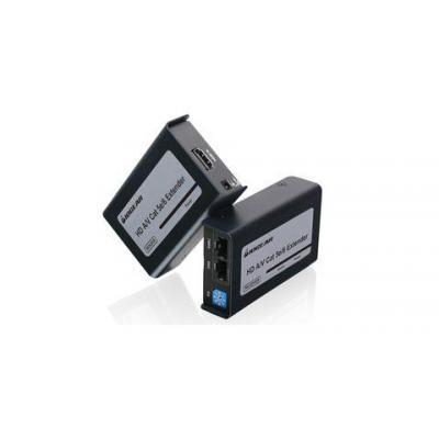 Iogear GVE320, HD Audio/Video CAT5e/6, Black AV extender - Zwart