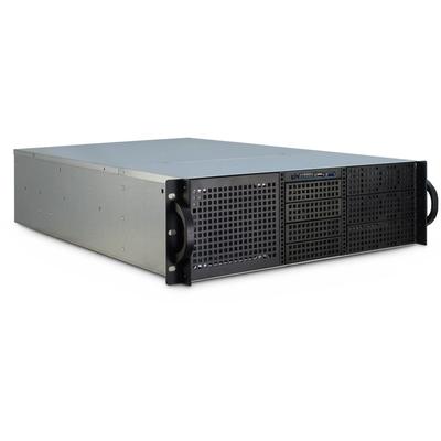 Inter-Tech 3U-30255 Behuizing - Zwart, Roestvrijstaal