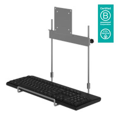 Dataflex Viewmate toetsenbordhouder - optie 592, zilver Muur & plafond bevestigings accessoire