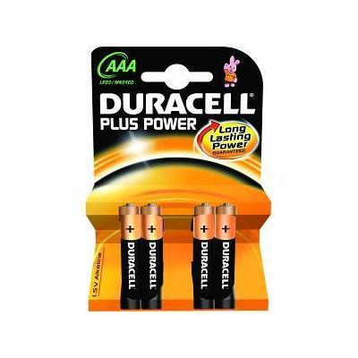 Duracell Alkaline, AAA, 1.5v, 4st batterij - Zwart, Oranje