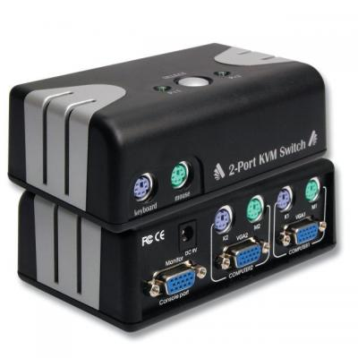 EFB Elektronik Desktopes VGA - PS/2 KVM switch - Zwart, Zilver