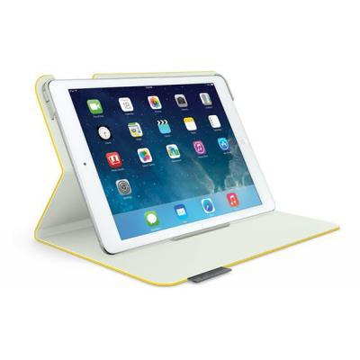 Logitech tablet case: Folio Protective Case f/ iPad Air, 261g, Sunflower Yellow - Geel