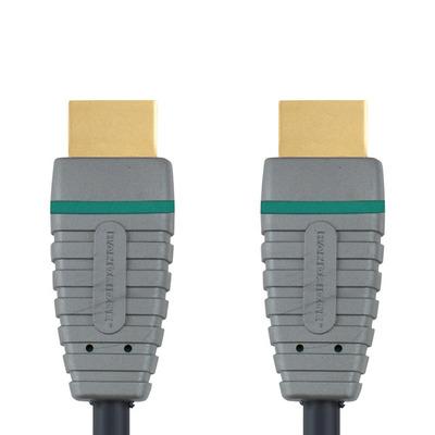 Bandridge 15m HDMI HDMI kabel - Zwart, Grijs