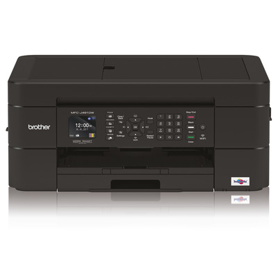 Brother Compacte all-in-one inkjetprinter met automatische documentinvoer en Wi-Fi in een stijlvol zwart design. .....