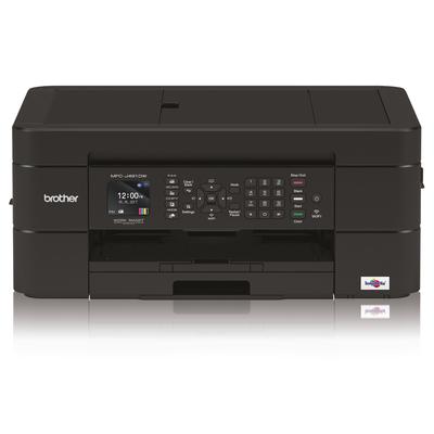 Brother Compacte all-in-one inkjetprinter met automatische documentinvoer en Wi-Fi in een stijlvol zwart design. .....