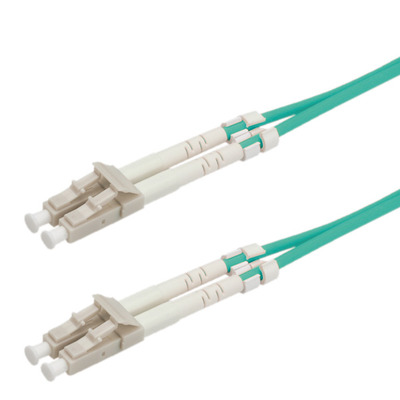 ROLINE Fibre Optic Jumper Cable, 50/125µm, LC/LC, OM3, turquoise 0.5 m Fiber optic kabel - Turkoois