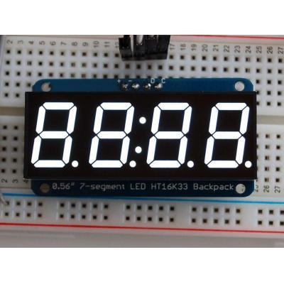 "Adafruit : 1.4224 cm (0.56 "") LED, 4-digit, 7-segment, I2C 7-bit, 4-pin"