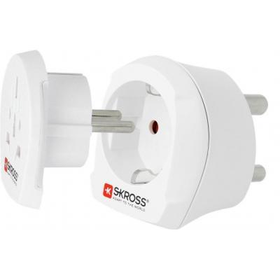 Microconnect SKROSS Country Adapter Elektrische stekker - Wit