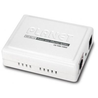 Planet netwerk splitter: IEEE 802.3af Power over Ethernet Splitter - Zwart