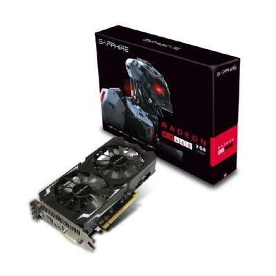 Sapphire videokaart: Radeon RX 460, 2GB DDR5, PCI-Experess 3.0, 128-bit - Zwart