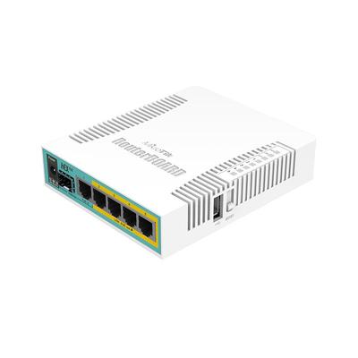 Mikrotik router: hEX PoE - Wit