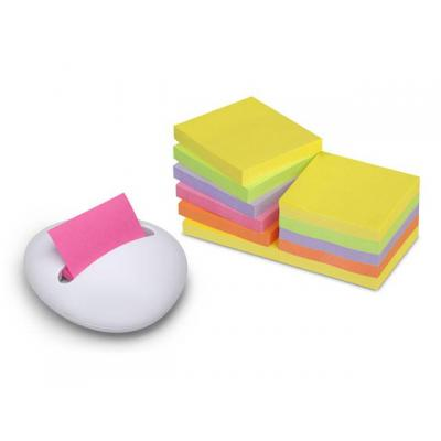 Post-it brievenbak: Dispenser Z-Notes Stone wit (+ notities)