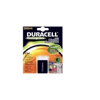 Duracell batterij: Digital Camera Battery 3.7v 900mAh 3.3Wh - Zwart