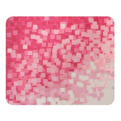 """LogiLink 220 x 180mm, """"Red Pattern"""" design Muismat - Rood, Wit"""