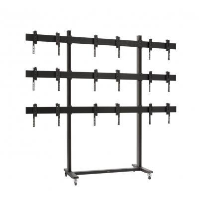 Vogel's SET TVW 3355, 3x3 video wall trolley 46/55, max 9x20 kg bij 46, 9x44 kg bij 55 TV standaard