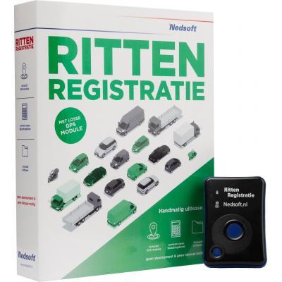 Nedsoft GPS tracker: RittenRegistratie - Zwart, Blauw