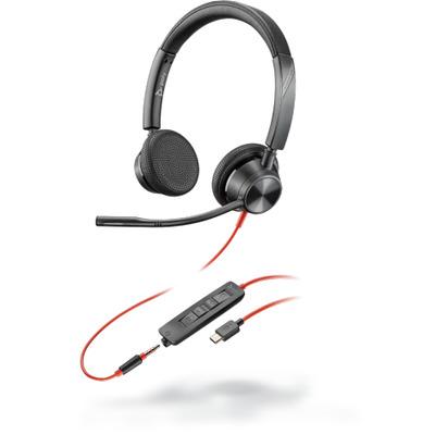POLY Blackwire 3325 Headset - Zwart, Rood