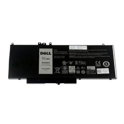 Dell batterij: 4-Cell 51WHr Primary Lithium-Ion Battery - Zwart