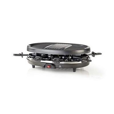 Nedis raclette: 900W, 230V, 1m Kabel, Zwart - Zwart, Roestvrijstaal