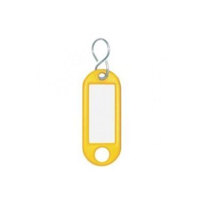 Wedo sleutehanger: Sleutellabel Geel, S-Ring, ø 15 mm (verpakking 10 stuks)