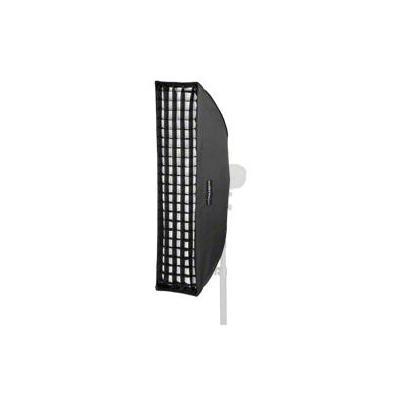 Walimex softbox: Striplight PLUS 25x90 Visatec - Zwart, Zilver, Wit