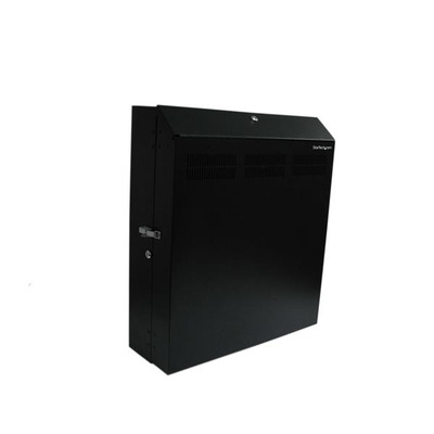 StarTech.com 4U 19 inch Beveiligd ServerHorizontale Wandmontage inclusief 2 Ventilatoren Rack - Zwart