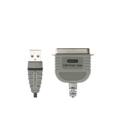Bandridge printerkabel: USB Printer Cable - Zwart, Grijs