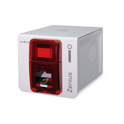 Evolis plastic kaart printer: Zenius - Rood, Wit