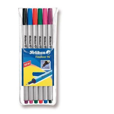 Pelikan fijnschrijver: 96/6 - Fineliner 6 assorted colours