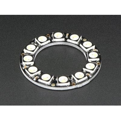 Adafruit decoratieve verlichting: 12x 5050 RGBW LEDs, Cool White, 6000K - Zwart