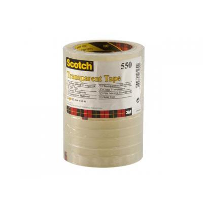 Scotch Plakband 550 12mmx66m tr/doos12rl Transparante tape